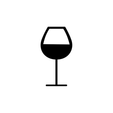 wine glass icon element of bar icon for mobile concept and web apps. Thin line wine glass icon can be used for web and mobile. Premium icon on white background.
