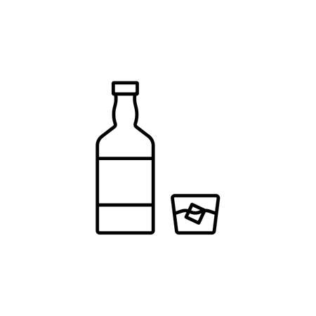whiskey icon element of bar icon for mobile concept and web apps.  Premium icon on white background. 向量圖像