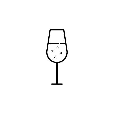 champagne icon element of bar icon for mobile concept and web apps. Premium icon on white background.