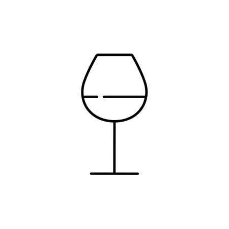 wine glass icon element of bar icon for mobile concept and web apps. Premium icon on white background.