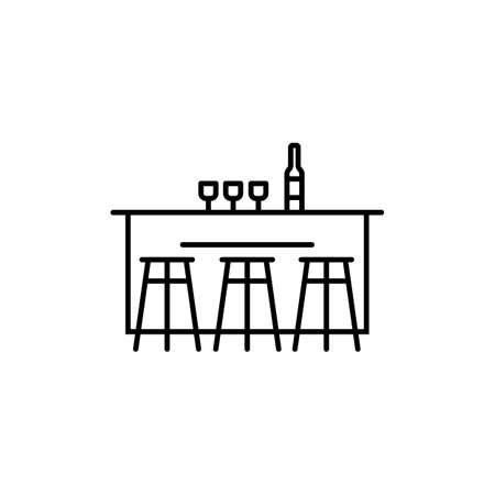 bar counter icon element of bar icon for mobile concept and web apps.  Premium icon on white background.
