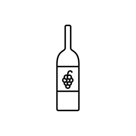 wine bottel icon element of bar icon for mobile concept and web apps. Premium icon on white background.