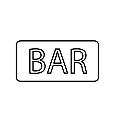 signboard bar icon element of bar icon for mobile concept and web apps. Premium icon on white background.
