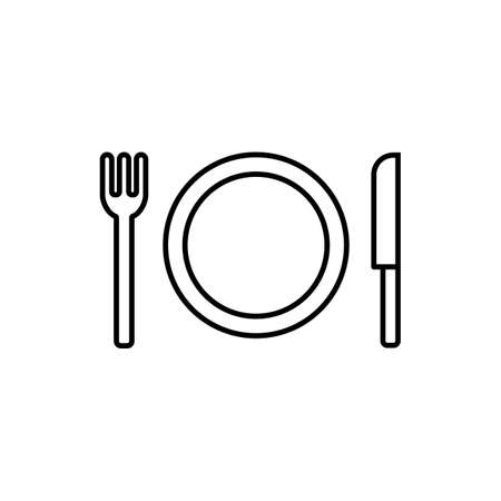 tableware icon element of restaurant icon for mobile concept and web apps. Thin line tableware icon can be used for web and mobile. Premium icon on white background.