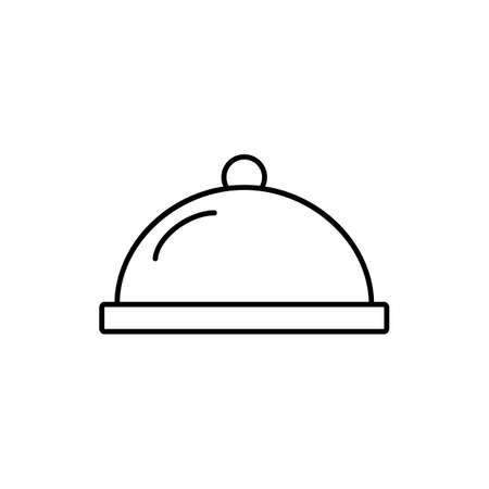 tray icon element of restaurant icon for mobile concept and web apps. Thin line tray icon can be used for web and mobile. Premium icon on white background.