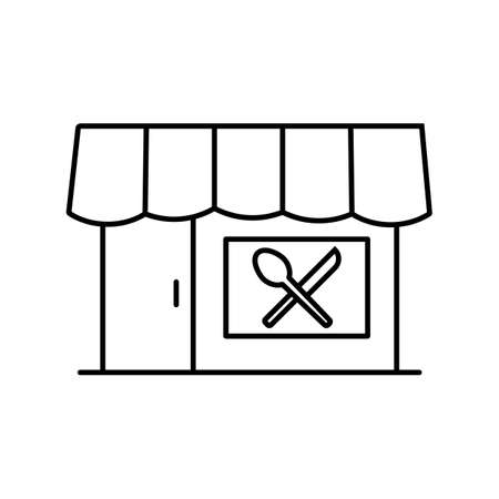 restaurant icon element of restaurant icon for mobile concept and web apps. Thin line restaurant icon can be used for web and mobile. Premium icon on white background.
