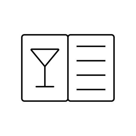 menu cocktail icon element of restaurant icon for mobile concept and web apps. Thin line menu cocktail icon can be used for web and mobile. Premium icon on white background.