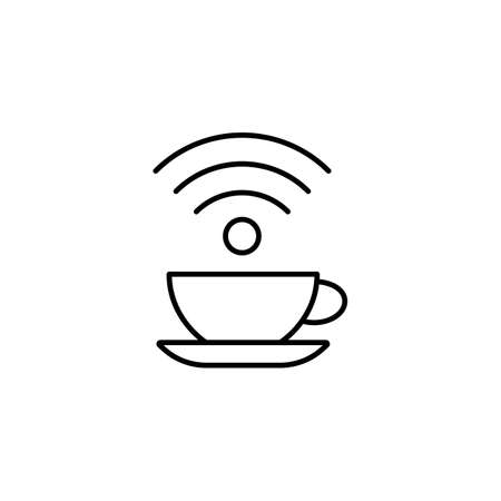 cafe wifi icon element of restaurant icon for mobile concept and web apps. Thin line cafe wifi icon can be used for web and mobile. Premium icon on white background.