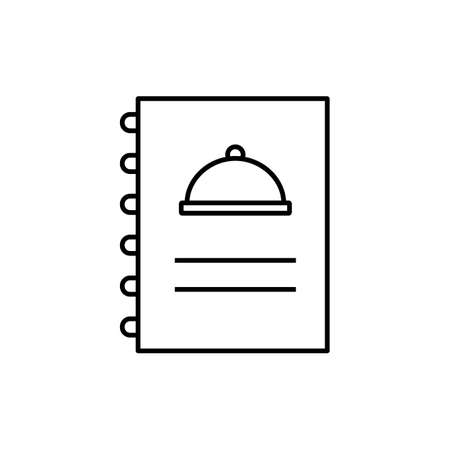 menu icon element of restaurant icon for mobile concept and web apps. Thin line menu icon can be used for web and mobile. Premium icon on white background.