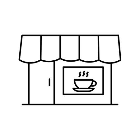 cafe icon element of restaurant icon for mobile concept and web apps. Thin line cafe icon can be used for web and mobile. Premium icon on white background.
