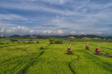 aerial view of rural landscape. Stock Photo