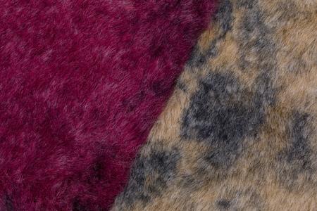 background of colorful fur swatch. Archivio Fotografico
