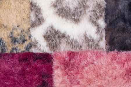 beautiful fur swatch background. Archivio Fotografico
