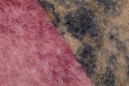 close up of fur swatch texture.