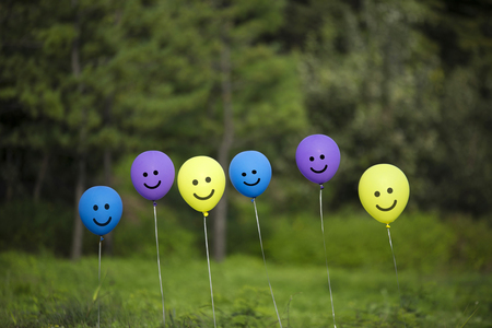 colorful balloons background.