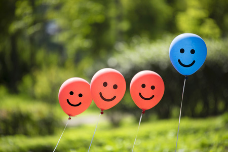 happy balloons background 写真素材