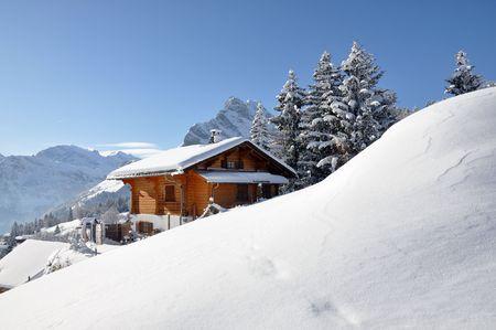 snow drift: Alpine scenery, Braunwald, Switzerland
