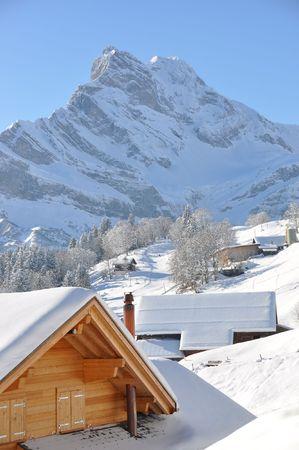 Ortstock mount 2717m. Braunwald, Switzerland photo