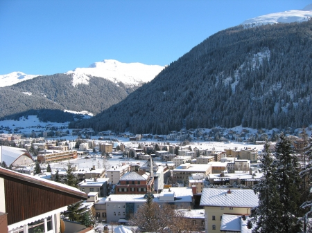 Winter view of Davos photo