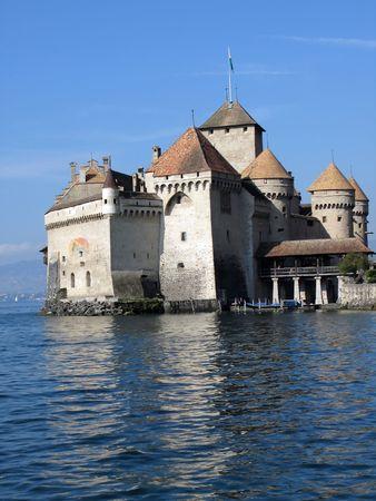 Chillion castle, Geneva lake, Switzerland photo