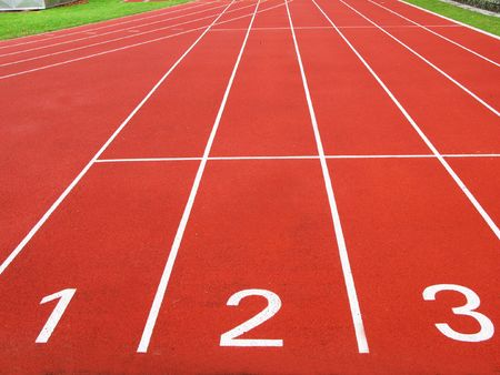 pista de atletismo: Pista de atletismo  Foto de archivo