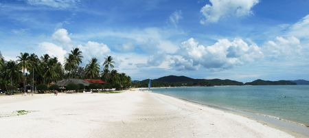 Tropical beach of Langkawi island, Malaysia photo