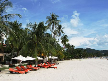 Tropical beach of Langkawi island, Malaysia Stock Photo - 6158282