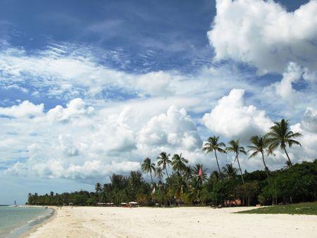 Tropical beach of Langkawi island, Malaysia photo