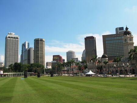 Dataran Merdeka (Independence square) in Kuala Lumpur, Malaysia photo