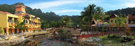 laguna: Oriental village on Langkawi island, Malaysia