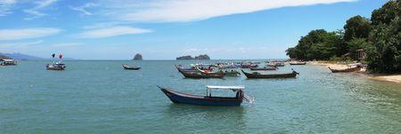 langkawi island: Fishing boats at the shore of Langkawi island, Malaysia