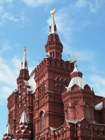 Featured historical museum on the Red Square in Moscow photo