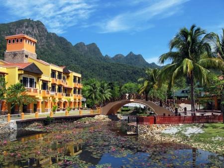 laguna: Oriental village. Langkawi island, Malaysia