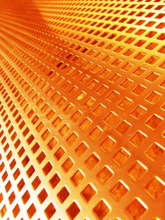 netlike: Red-hot metal mesh
