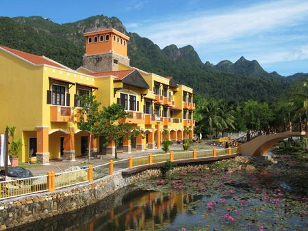 langkawi island: Oriental village. Langkawi island, Malaysia