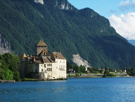 Chillion castle in Montreux, Switzerland photo