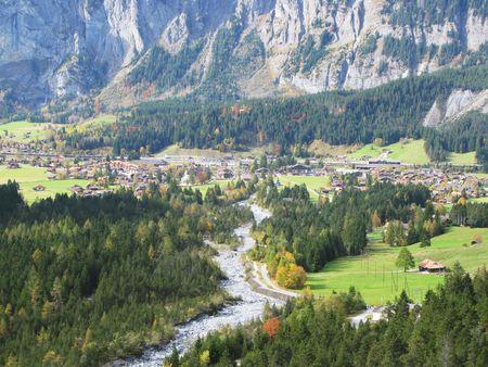 Majestic Alpine view in Kandersteg region, Switzerland photo