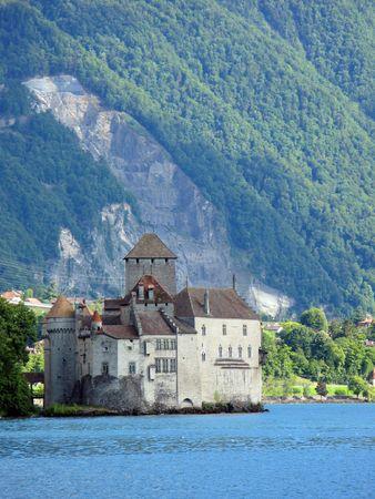 montreux: Chillon castle in Montreux, Switzerland Stock Photo