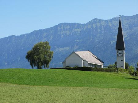 oberland: Rural church in Berner Oberland region, Switzerland