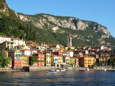 como: Varenna town. Lake Como, Italy