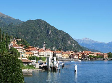 View to Menaggio town at famous Italian lake Como  photo