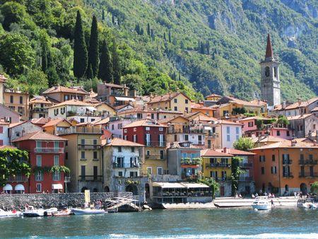 como: Varenna town at the famous Italian lake Como