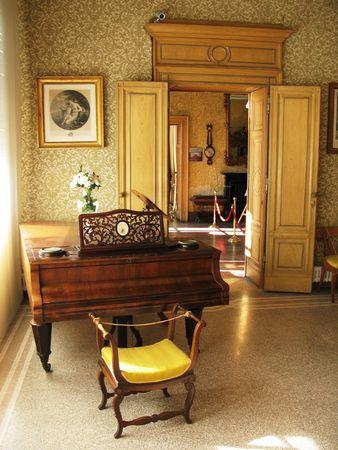 Interior of villa Monastero. Lake Como, Italy photo