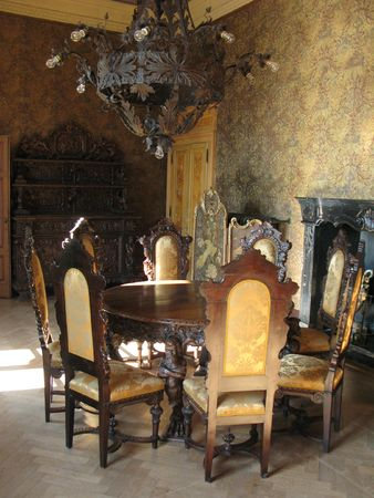 castle interior: Interior of villa Monastero. Lake Como, Italy