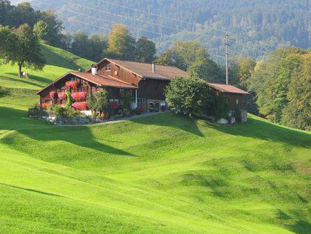 Scenic view in Voralp, Switzerland photo