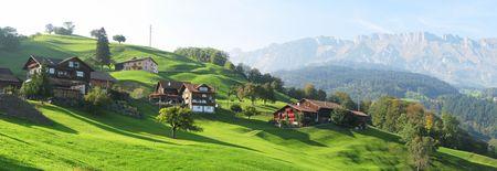 Scenic view in Voralp, Switzerland Stock Photo