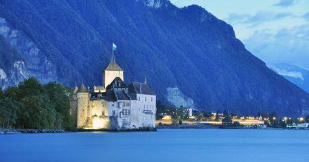 Chillon castle, Geneva lake, Switzerland  Stock Photo