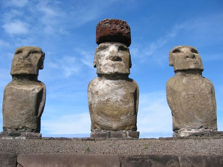 Ahu Tongariki. Moais of Easter Island   photo