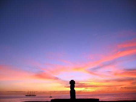 Moai of Easter Island photo