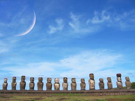 singularity: Ahu Tongariki, Easter Island